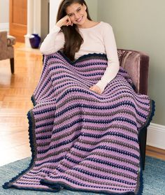 Cozy Home Throw Free Crochet Pattern in Red Heart Yarns