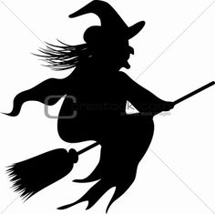 Halloween Witch Silhouette Templates | picturespider.com