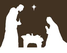 xmas bear silhouette pattern free | Nativity Free Printable