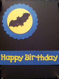 Bat or batman  card