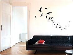 Wandtattoo Vogelschwarm