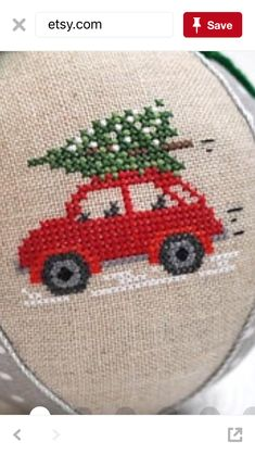 Vehicle cross stitch.