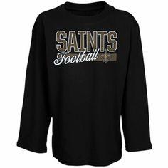 New Orleans Saints Youth Girls Sweet & Loyal Long Sleeve T-Shirt - Black