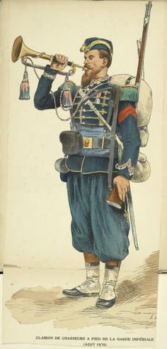 Trumpeter of the Chasseurs a Pied of the French Imperial Guard c 1870