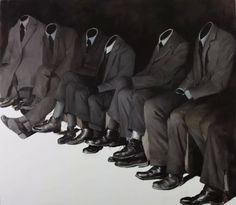 """redlipstickresurrected: """" Mircea Suciu (Romanian, b. Baia Mare, Romania) - Wise Guys, 2011 Paintings: Oil on Canvas """" The Wicked The Divine, The Master And Margarita, Sayaka Miki, Images Esthétiques, Night Vale, Blue Dream, Foto Art, Contemporary Paintings, Oil On Canvas"""