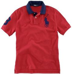 Ralph Lauren Boys\u0027 Big Pony Contrast Collar Polo - ShopStyle Shirts