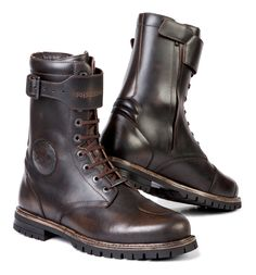 The Stylmartin Rocket Boots are a cafe racer creation from yesteryear. The antiqued brown leather finish ages beautifully with use and is backed with a water...