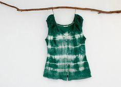 FOREST DWELLER . tie dye women's top . size 10 . by bohemianbabes