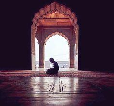 I pray to You, my Lord. in my solitude. Alhamdulillah, Muslim Images, Man Praying, Arabian Art, Islamic Girl, Beautiful Mosques, Islamic Wallpaper, Islamic Architecture, Foto Art