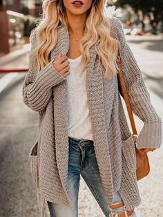 Casual Thicken Mid-Length Loose Women's Cardigan Sweater