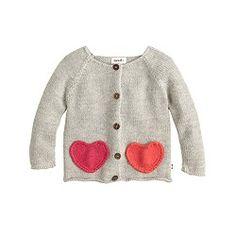 Baby Oeuf® heart cardigan