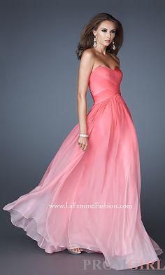 Long Strapless Ombre Gown by La Femme 17004 Grad Dresses cb9da9c5387c