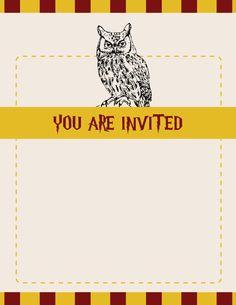 Harry Potter Inspired Custom Photo Birthday Invitation