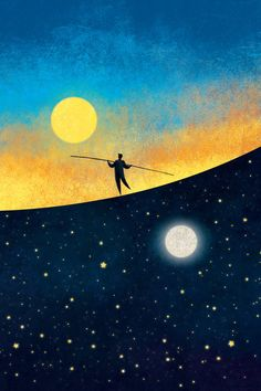 The Tightrope Walker A by roweig (print image) #star #night #sky #heaven