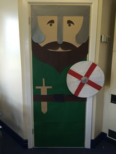 Anglo Saxons display for my cupboard door - planning on adding pupils' brooches in the coming weeks!