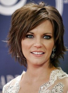 Short Layered Hairstyle for Thick Hair