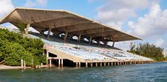 Floating by Miami Marine Stadium, an entertainment venue off the Biscayne Bay. | Photo: Rick Bravo