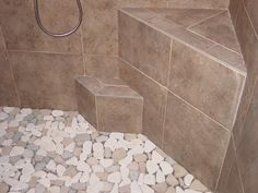 Shower Floor Tile Patterns - The kind of flooring you pick for your bathroom feel of their bathroom and determines the loo Clean Shower Floor, Pebble Shower Floor, Shower Floor, Bathroom Flooring, Tile Ready Shower Pan, Flooring, Shower Design, Shower Floor Tile, Shower Tile Designs