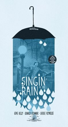 I really like this design because of the color and how it all ties in together. It has what's its about and if you couldnt read it you could guess it was about rain. I like the upside down umbrella and the cartoonish raindrops. It has a real sense to it as well as a cartoonish sense as well.