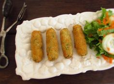 Shrimp croquettes | Food From Portugal. Croquettes are always a great solution to serve at a party! These shrimp croquettes with excellent presentation are delicious and will impress your guests!  http://www.foodfromportugal.com/recipe/shrimp-croquettes/