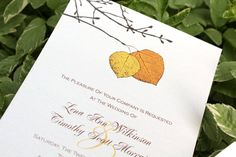 Fall Golden Yellow and Orange Aspen Leaf by AbsintheCustomPrint, $4.00