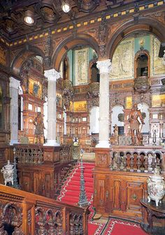 interior pictures of Peles Castle in Romania - Google Search  Picture of the Entrance Hall.