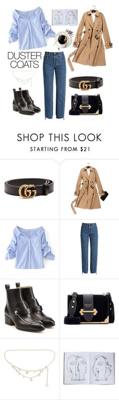 """Untitled #111"" by kenza-sallemi ❤ liked on Polyvore featuring Gucci, WithChic, Vetements, Chloé, Prada, Chanel and Assouline Publishing"