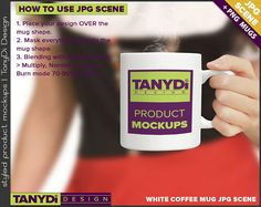 11oz White Coffee Mug Styled JPG Scenes Mug in by TanyDiArtDesign