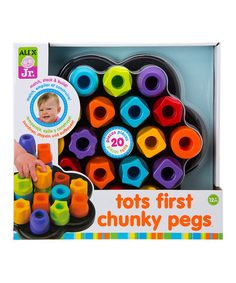 Loving this Tots First Chunky Pegs on #zulily! #zulilyfinds