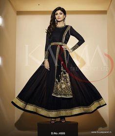 Shilpa Shetty Designer Black Salwar Kameez