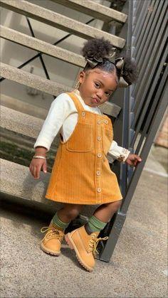 Cute Mixed Babies, Cute Black Babies, Black Baby Girls, Cute Little Girls Outfits, Kids Outfits Girls, Toddler Girl Outfits, Toddler Girl Style, Fashion Kids, Baby Girl Fashion