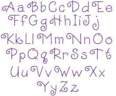 alphabets for  hand embroidery | ... Simple Embroidery Alphabets and Fonts ... | Hand embroidery