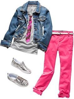 Girls Clothes: Featured Outfits Outfits We Love Outfits Niños, Cute Girl Outfits, Little Girl Outfits, Little Girl Fashion, Outfits For Teens, Pretty Outfits, Fashion Outfits, Preteen Fashion, Kids Fashion