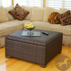 @Overstock - Keep your living room neat and organized with this elegant wicker storage ottoman. It features a large storage space concealed inside the diamond-patterned wicker piece. This ottoman comes in a brown finish and is made of all-weather PE wicker.http://www.overstock.com/Home-Garden/Christopher-Knight-Home-Wicker-Brown-Indoor-Outdoor-Storage-Ottoman/5195945/product.html?CID=214117 $276.60