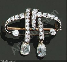 Faberge Broach,1900. yellow gold 9 carat and 14 and perforated silver, set with diamonds, 4,9 g LOVE IT!!! http://egyptlawson.com
