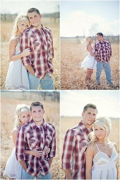 Cute country engagement photography