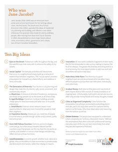 Jane Jacobs: Ten Big Ideas   Jane's Walk