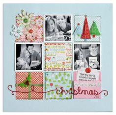 #papercraft #scrapbook #layout    #Christmas