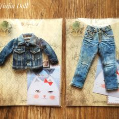 Jean jacket and jeans   Thank you for you like my classic denim works so much!  #jiajiadoll #blythe #momoko #imda #jeans