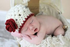 Baby Girl Hat Newborn Girl Hat Crochet Knit Beanie Photography Prop Infant Girl Photo Prop on Etsy, $18.99