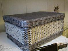 Поделка изделие Плетение МК коробки со шнуровской Трубочки бумажные фото 1