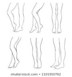 Find Outline Attractive Female Legs Vector Set stock images in HD and millions of other royalty-free stock photos, illustrations and vectors in the Shutterstock collection. Drawing Legs, Feet Drawing, Drawing Body Poses, Leg Reference, Art Reference Poses, Body Sketches, Art Drawings Sketches Simple, Fashion Design Template, Fashion Design Sketches