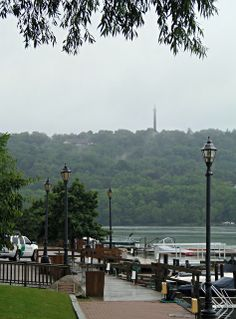 Brock Monument across the Niagara River from Lewiston, NY
