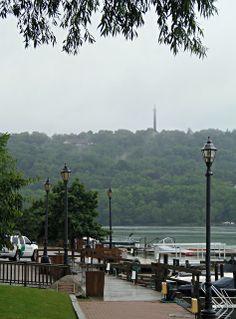 Brock Monument across the Niagara River from Lewiston, NY