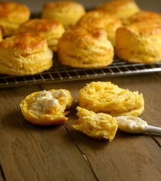 Sweet Potato Biscuits with Honey Goat Cheese Butter