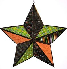 Halloween star... #star #crafts #scrapbookpaper #halloween #crafts #greeneyedgirlcrafts