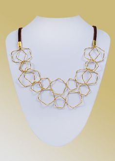 Pentagons Necklace - Designed by Asnat Guttman - JEWELRY FROM ISRAEL