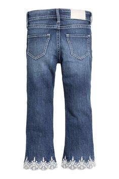 Bébé Filles Nourrissons Denim Look Jeans Plain Basic Coupe Extensible Leggings Pantalon