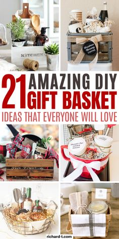 21 Genius DIY gift basket ideas your friends and family will love! These DIY gif. 21 Genius DIY gift basket ideas your friends and family will love! These DIY gift baskets are perfe Cookie Gift Baskets, Homemade Gift Baskets, Wine Gift Baskets, Homemade Gifts, Family Gift Baskets, Housewarming Gift Baskets, Raffle Gift Basket Ideas, Summer Gift Baskets, Themed Gift Baskets
