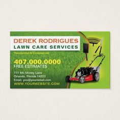 Landscaping lawn care mower business card template lawn care card landscaping lawn care mower business card template reheart Image collections